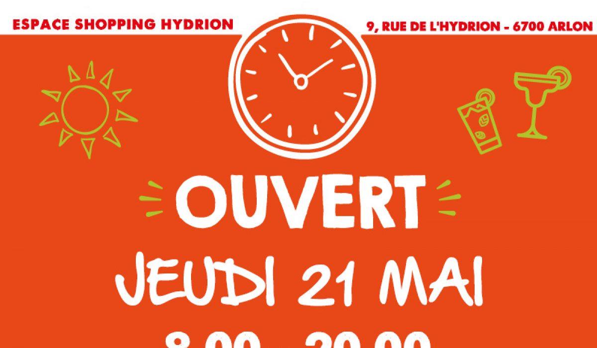 Hydrion ouverture Carrefour jour férié