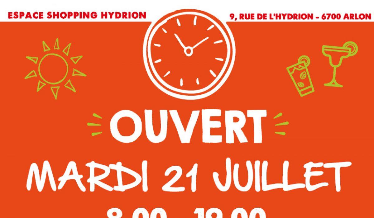 Hydrion ouverture Carrefour 21 juillet