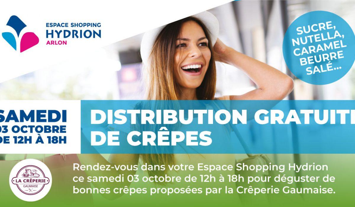 Distribution crêpes gratuites
