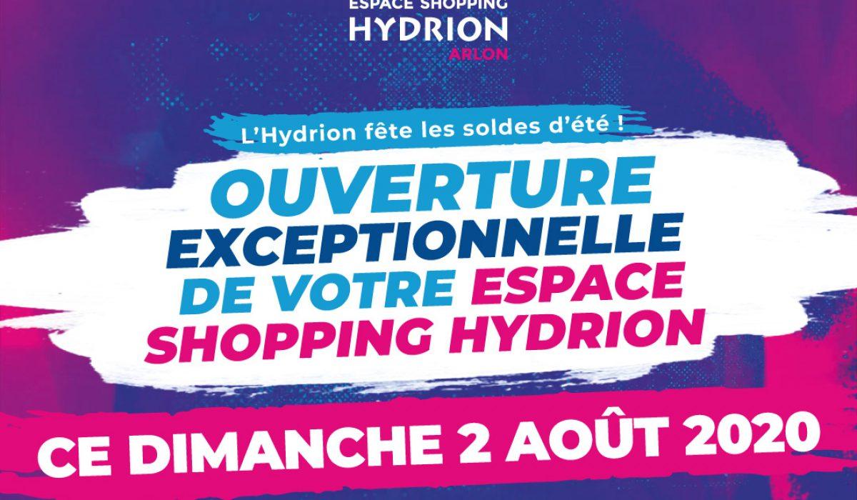 Hydrion ouverture dimanche 2 août
